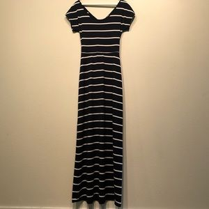 Love...Ady Navy & White Maxi Dress